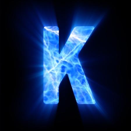 burning alphabet: Plasma font  K