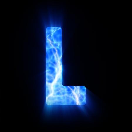 burning alphabet: Plasma font  L