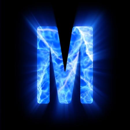 burning alphabet: Plasma font  M