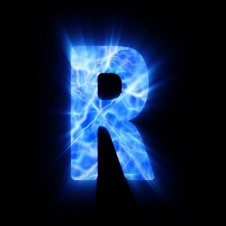 Plasma font  R  photo
