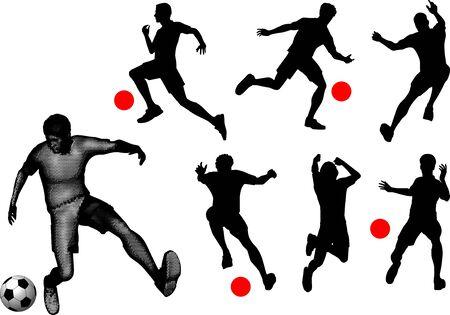 Vector illustration of sports silhouettes.   Иллюстрация
