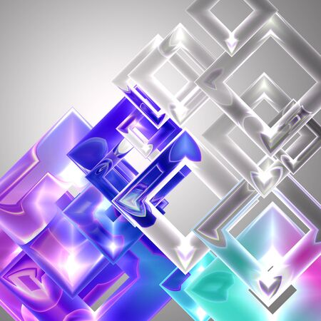 varicoloured: Background with varicoloured glass squares  Stock Photo