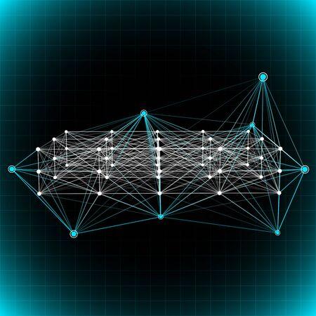 Abstract network background. Фото со стока