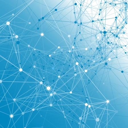 virus informatico: Comunicaci�n fondo azul.