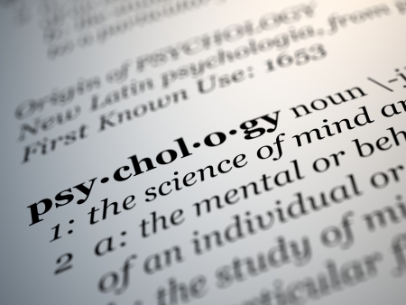 Psychology definition on an dictionary