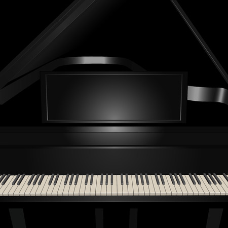Background with pianoforte  Vector illustration