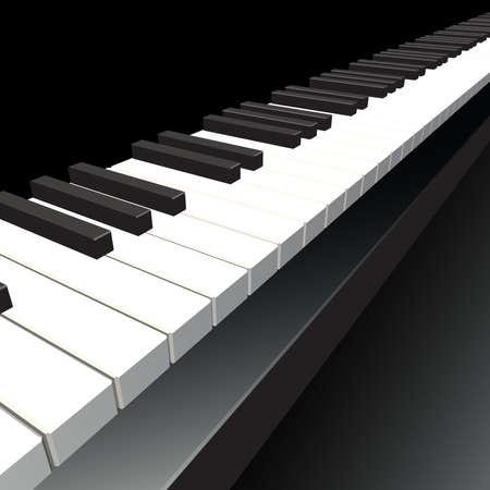 Piano key  Vector illustration