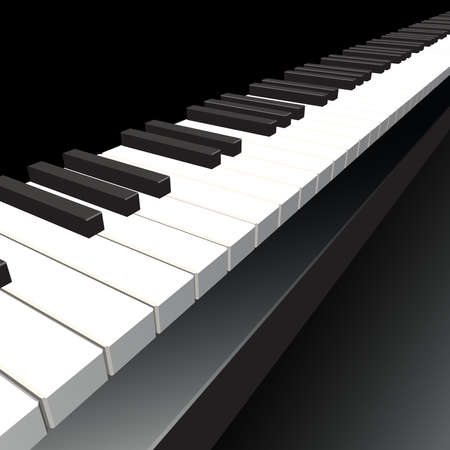 acoustically: Piano key  Vector illustration