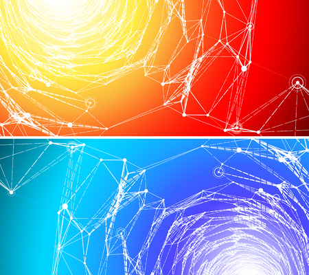 Two abstract vector background of a communication concept  Иллюстрация