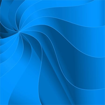 Abstract vector background with smooth blue waves. Фото со стока - 41602983