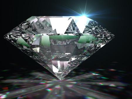 검은 색 표면에 화려한 다이아몬드입니다.