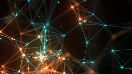 Abstract concept-netwerk, communicatie, sociale netwerken, verbinding.