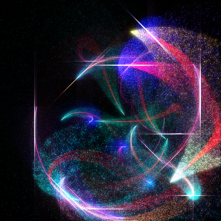 Abstract  Background With Particles And Glow Lines.
