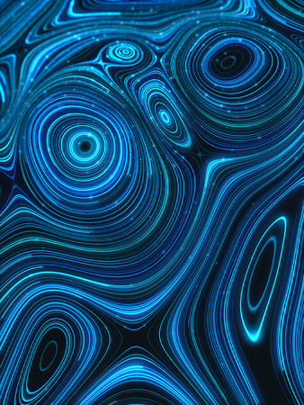 Beautiful abstract background with glowing pattern of blue waves.