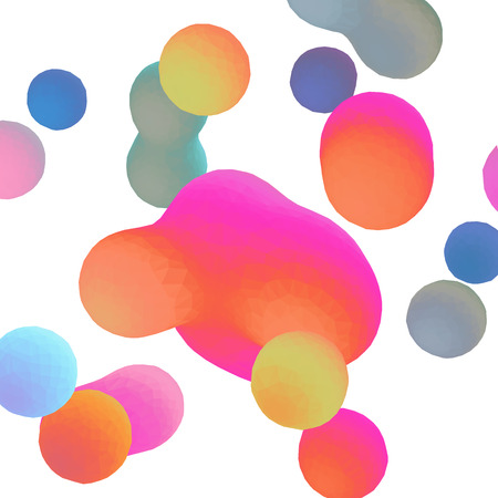 Vector background with colorful drops on white.