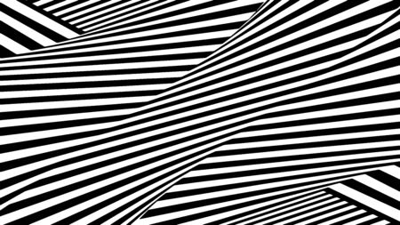 Abstract black and white striped background.  Pattern with black and white lines. Background, horizontal. Optical art. Иллюстрация