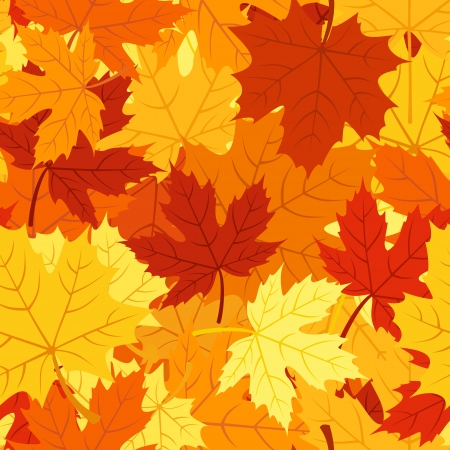 Seamless pattern with autumn maple leaves. Vector EPS 8. Stock Vector - 18259441