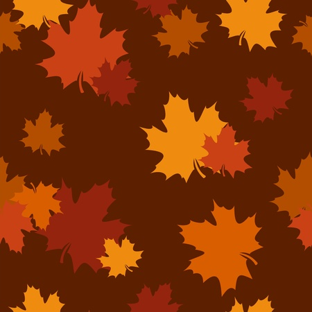 Seamless pattern with autumn maple leaves. Vector EPS 8. Stock Vector - 18259383