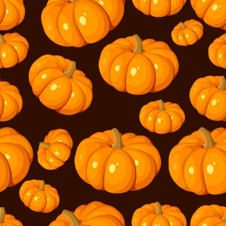 Seamless pattern with pumpkins. Vector illustration. Vector