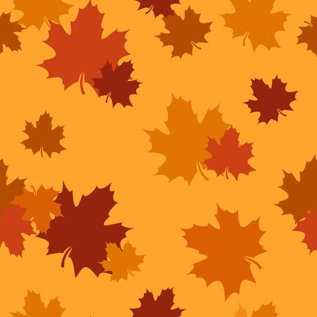 Seamless pattern with autumn maple leaves. Vector illustration. Stock Vector - 18259378