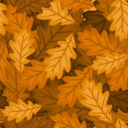 Seamless pattern with autumn oak leaves.  Stock Vector - 18259482