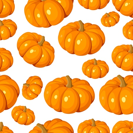 Seamless pattern with pumpkins  Vector illustration  Vector