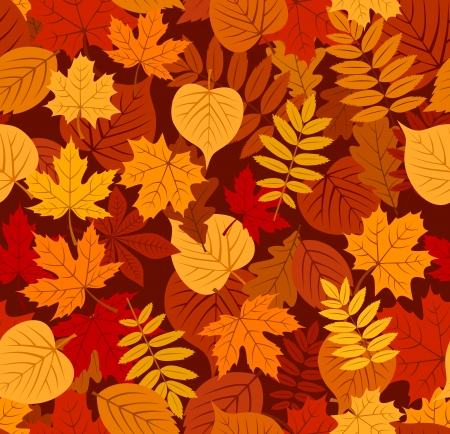 Seamless pattern with autumn leaves illustration Stock Vector - 18259481
