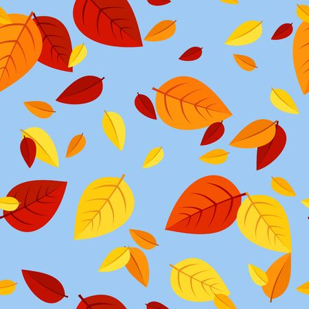 Seamless pattern with colored autumn leaves  Vector illustration Stock Vector - 18259376
