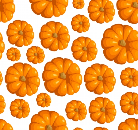 Seamless pattern with pumpkins illustration Stock Vector - 18259484