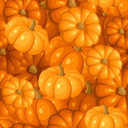gourd: Seamless pattern with pumpkins  Vector illustration