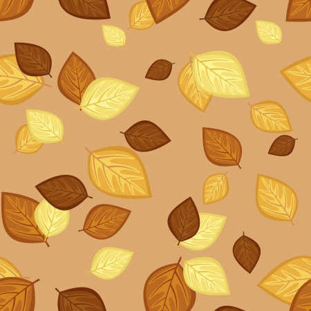 Seamless pattern with autumn leaves  Vector illustration Stock Vector - 18259455