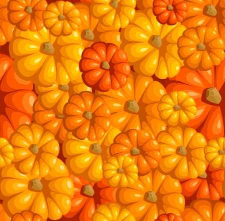 Seamless pattern with pumpkins illustration Stock Vector - 18259487