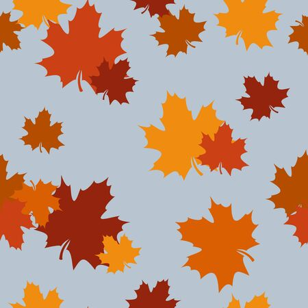 Seamless pattern with autumn maple leaves  Vector illustration  Stock Vector - 18259377