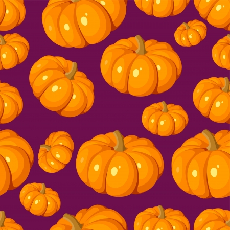 Seamless pattern with pumpkins  Vector illustration Stock Vector - 18259326
