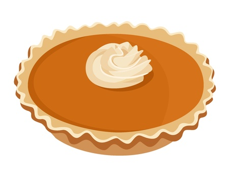 Pumpkin pie.  Vector