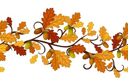 Horizontale nahtlose Muster mit Herbst Eichenlaub.