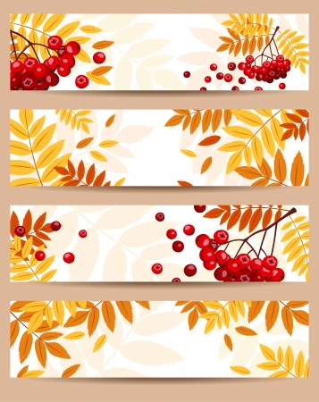 Set of four autumn banners Stock Vector - 18476349