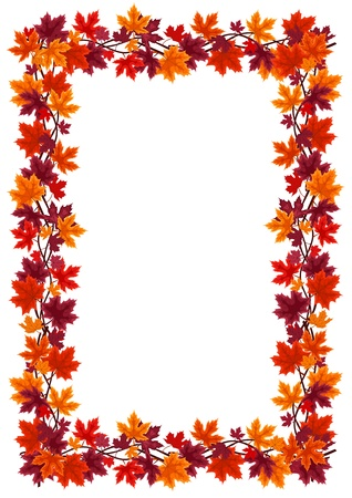 Autumn maple leaves frame. Stock Vector - 18273317