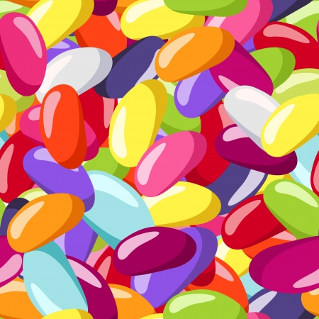 jellybean: Seamless pattern with jelly beans of various colors.