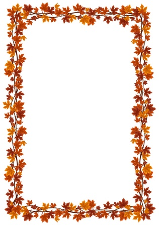Autumn maple leaves frame. Stock Vector - 18273320