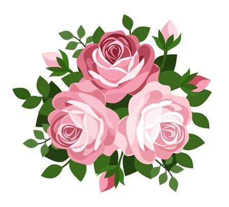 Drei rosa Rosen.