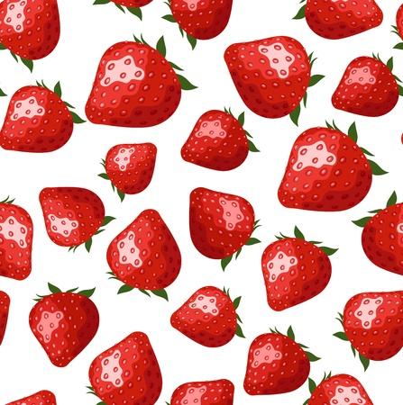 strawberries: Seamless pattern with strawberries. Illustration