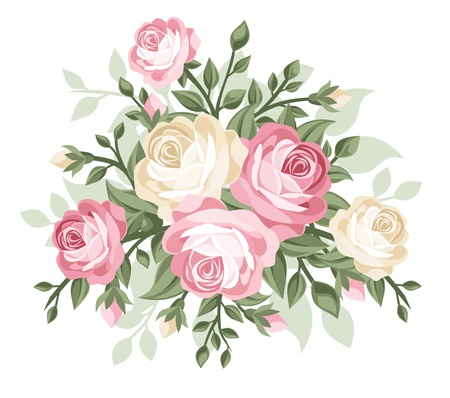 rosebuds: illustration of vintage roses