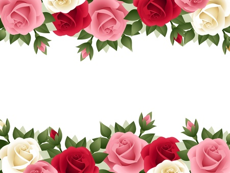 background with colored roses   Vector