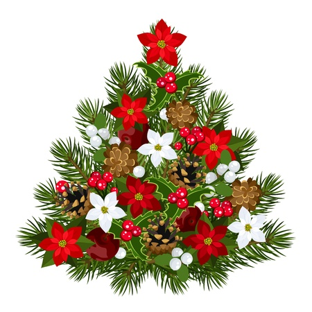 fir cone: Decorative Christmas tree.