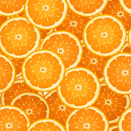 Seamless background with orange slices.  Illustration
