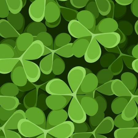 St  Patrick s day seamless background with shamrock   Vector