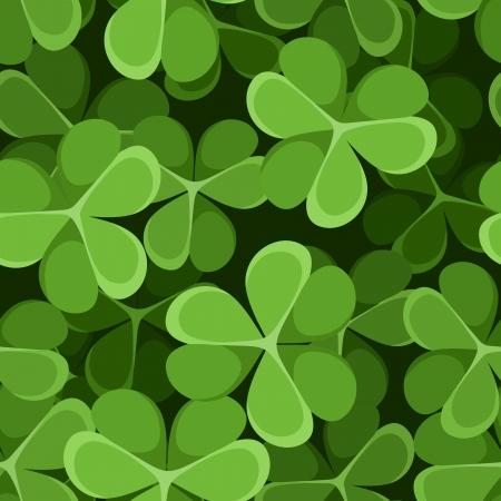 st  patrick: St  Patrick s day seamless background with shamrock