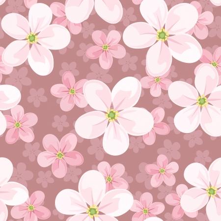 fleurs de cerisiers: Seamless background de fleurs de cerisier.