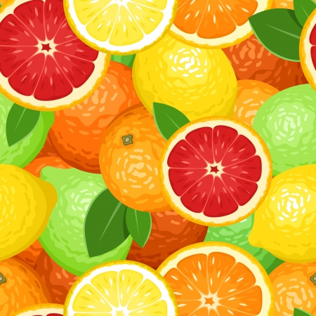 oranges: Seamless background with citrus fruits.